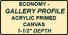 "ECONOMY - GALLERY PROFILE ACRYLIC PRIMED CANVAS 1-1/2"" DEPTH"