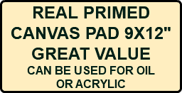 "REAL PRIMED CANVAS PAD 9X12"" GREAT VALUE CAN BE USED FOR OIL OR ACRYLIC"