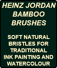 HEINZ JORDAN BAMBOO BRUSHES SOFT NATURAL BRISTLES FOR TRADITIONAL INK PAINTING AND WATERCOLOUR