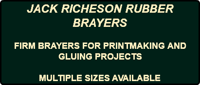 JACK RICHESON RUBBER BRAYERS FIRM BRAYERS FOR PRINTMAKING AND GLUING PROJECTS MULTIPLE SIZES AVAILABLE