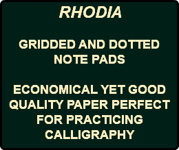 RHODIA GRIDDED AND DOTTED NOTE PADS ECONOMICAL YET GOOD QUALITY PAPER PERFECT FOR PRACTICING CALLIGRAPHY